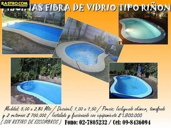Piscinas de fibra chillan design de imagem for Construccion de piscinas precios chile