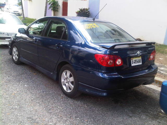 dra vende toyota corolla s 2006 versi n americana azul autos en santo domingo. Black Bedroom Furniture Sets. Home Design Ideas