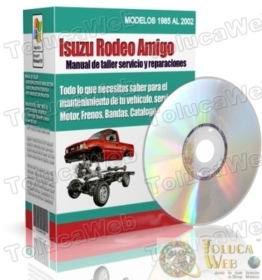 manual de mantenimiento mecanico Trooper Fit Isuzu Rodeo Amigo  - Carros - México
