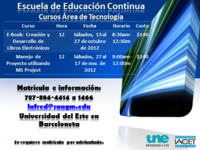 AREA DE TECNOLOGIA: MS PROJECT/ E-BOOK - Universidades - Barceloneta